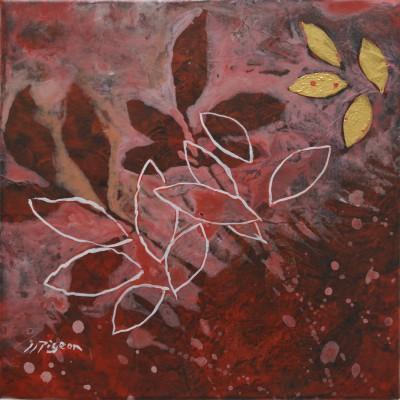 Peinture d'effeuillage blanc rose et or 2010-2011, 40/40