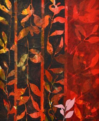 Peinture d'effeuillage noir rouge 2011 61/50