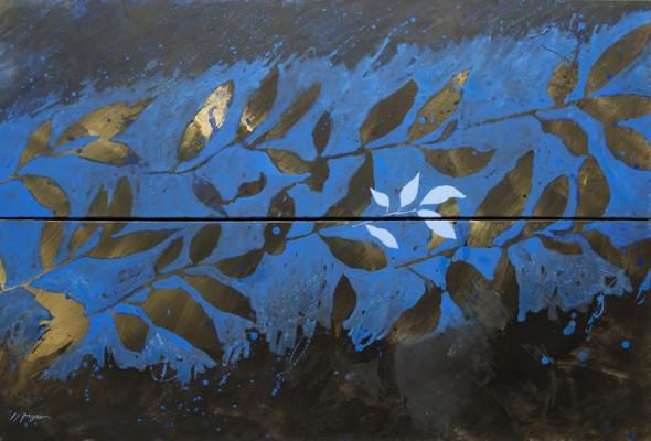 Peinture d'effeuillage (diptyque) LXXI 2014 80/120