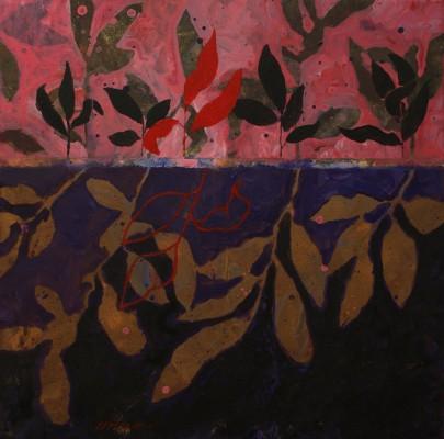 Peinture d'effeuillage violet rose 2011 40/40