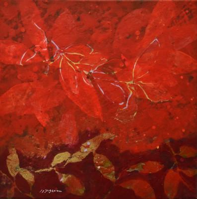 Peinture d'effeuillage rouge/rouge 2011 40/40