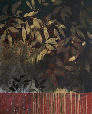 Peinture d'effeuilllage LXVII 2013 100/80